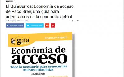 EnFranquicia se hace eco del lanzamiento del GuíaBurros: Economía de acceso